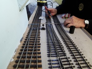 O Gauge Track Being Wired Up